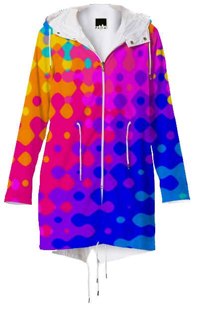 Psychedelic Hippy Pattern Raincoat