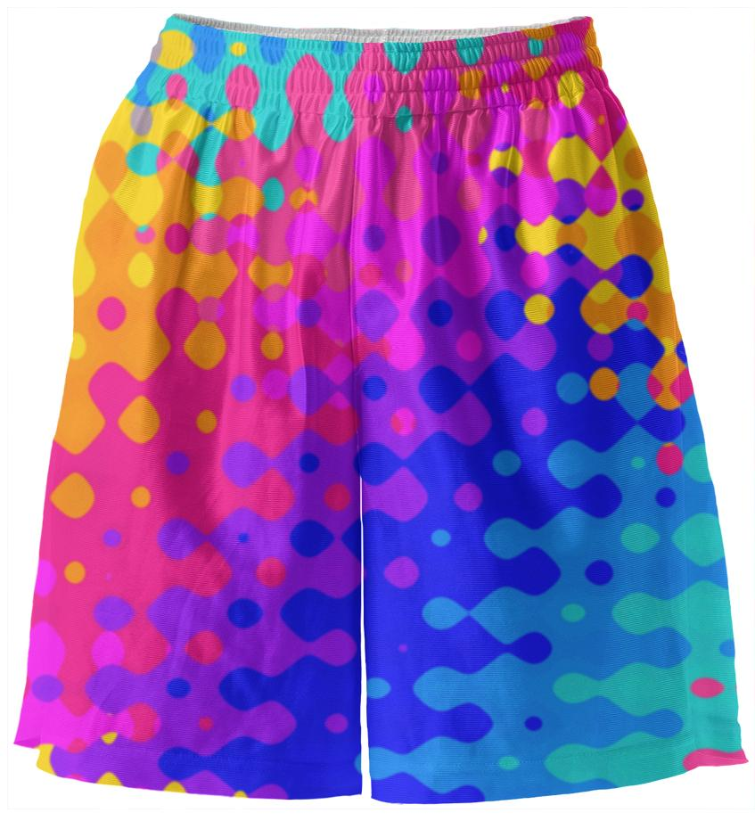 Psychedelic Hippy Pattern Basketball Shorts