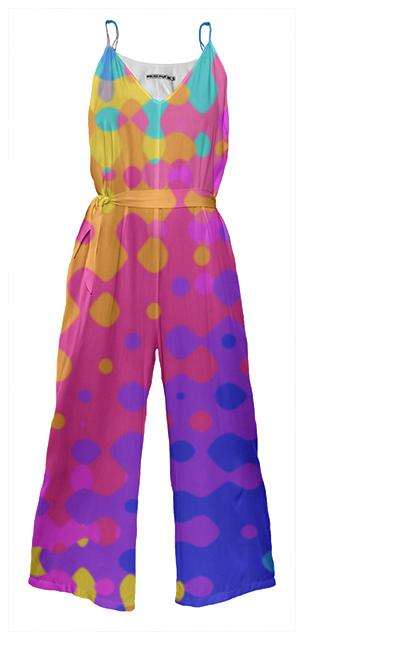Psychedelic Hippy Pattern Jumpsuit