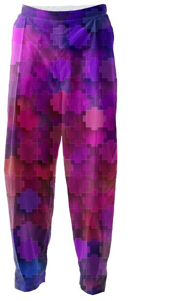 Strange Pink Square Puzzle Pieces Pattern Relaxed Pant