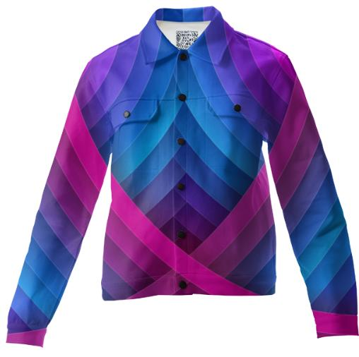 Blue and Pink Arches Twill Jacket