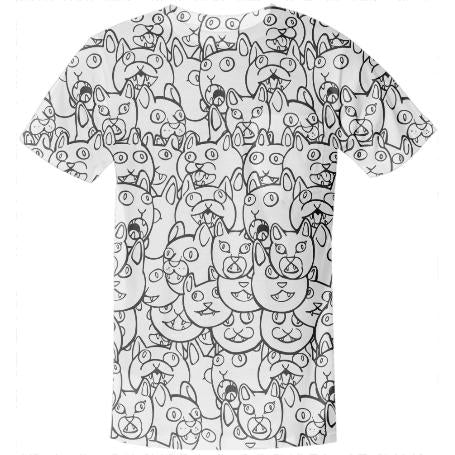 Meow Meow Pocket Shirt