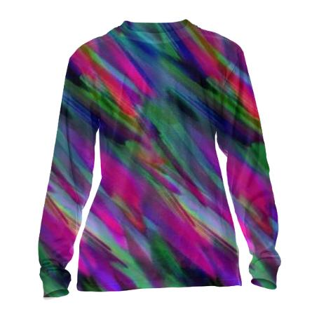 CUFFED LONG SLEEVE Colorful digital art splashing G400
