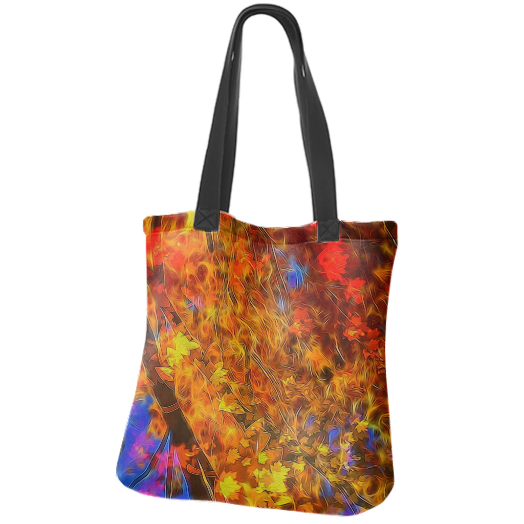 Fall Bokeh Highlights Neoprene Tote