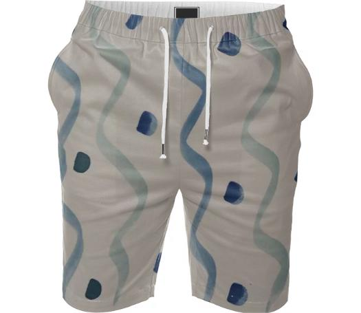 Watercolor Designer Beach Shorts