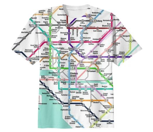 MELxTKY subway map shirt