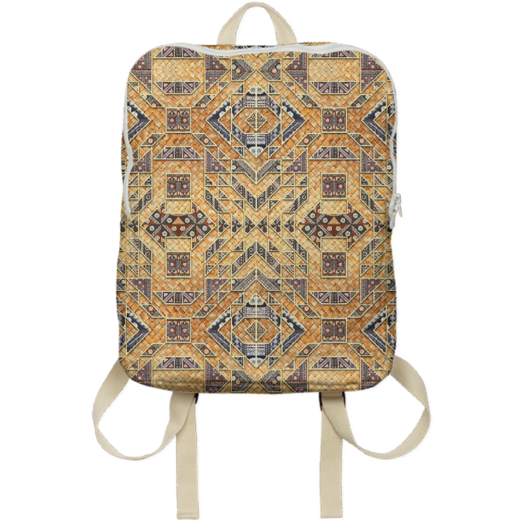 PAOM, Print All Over Me, digital print, design, fashion, style, collaboration, babyboofiji, Backpack, Backpack, Backpack, Fiji, Masi, Palm, Leaf, Woven, Matt, autumn winter spring summer, unisex, Poly, Bags