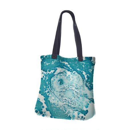 PAOM, Print All Over Me, digital print, design, fashion, style, collaboration, daninolab, Neoprene Tote Bag, Neoprene-Tote-Bag, NeopreneToteBag, Soil, Bacteria, autumn winter spring summer, unisex, Neoprene, Bags