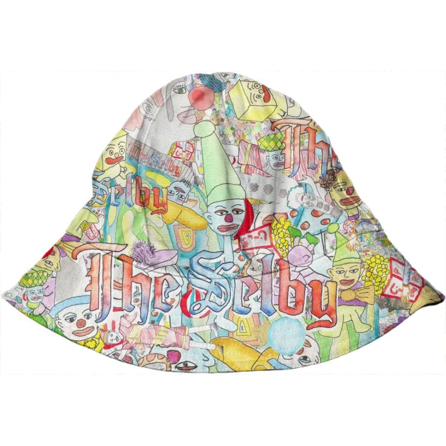 PAOM, Print All Over Me, digital print, design, fashion, style, collaboration, theselby, Kids Bucket Hat, Kids-Bucket-Hat, KidsBucketHat, The, Selby, clown, baby, autumn winter spring summer, unisex, Poly, Kids