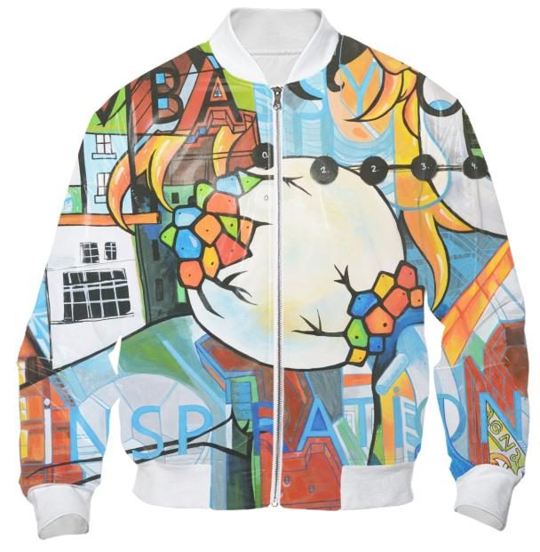 PAOM, Print All Over Me, digital print, design, fashion, style, collaboration, mammamiu, Bomber Jacket, Bomber-Jacket, BomberJacket, Embassy, inspiration, autumn winter, unisex, Nylon, Outerwear