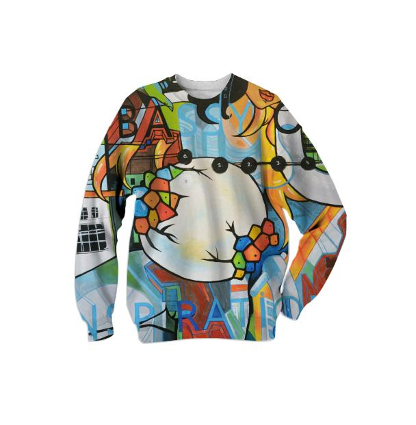 PAOM, Print All Over Me, digital print, design, fashion, style, collaboration, mammamiu, Cotton Sweatshirt, Cotton-Sweatshirt, CottonSweatshirt, Embassy, Inspiration, autumn winter, unisex, Cotton, Tops