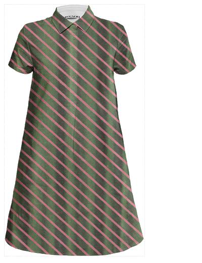 Curtain Stripe Mini Shirt Dress