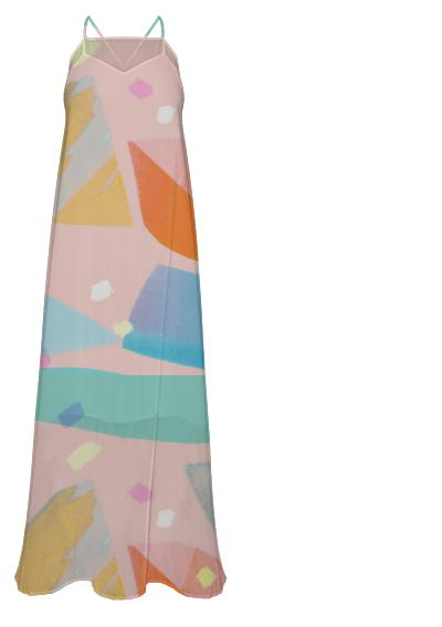 Raspberry Sherbert Chiffon Maxi Dress
