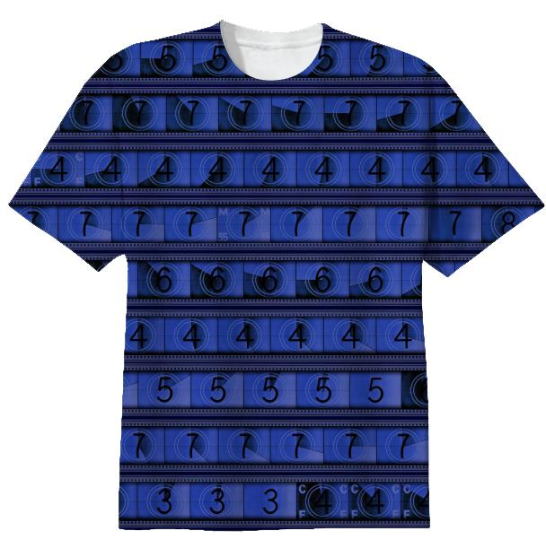 15 70mm Countdown T Shirt Midnight Blue