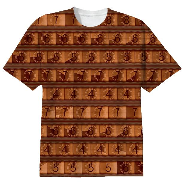 15 70mm Countdown T Shirt Sienna Brown