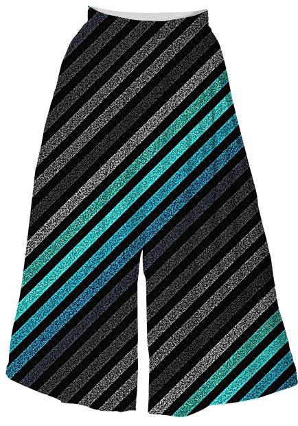 80s Stripes Teal Gray