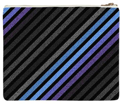 80s Striped Clutch