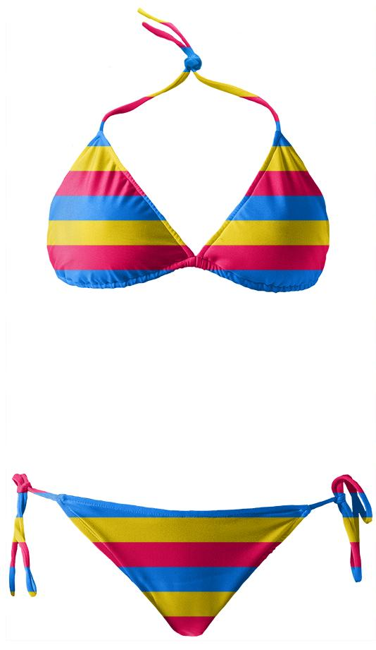Rainbow Striped Bikini