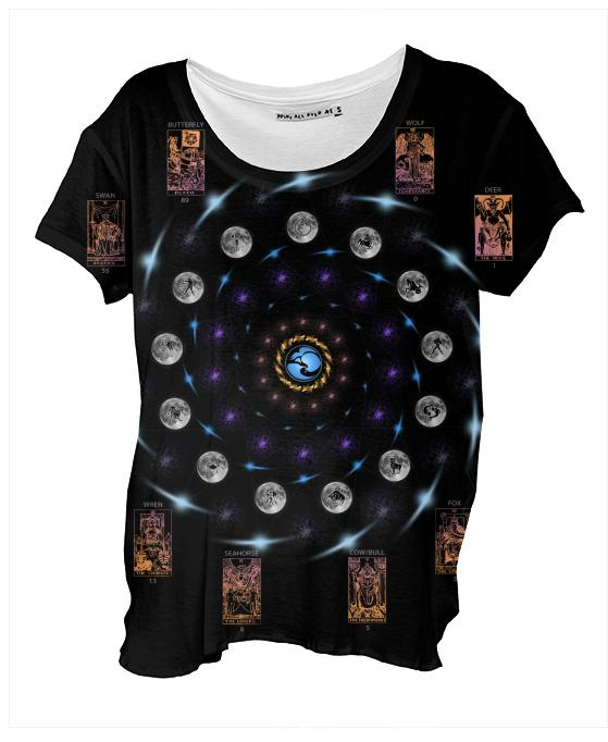 Thirteen Tarot Zodiac Drape Shirt