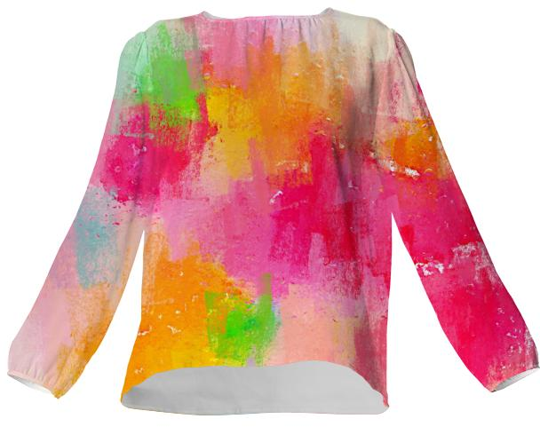 Spring Pastel Showers Silk Top