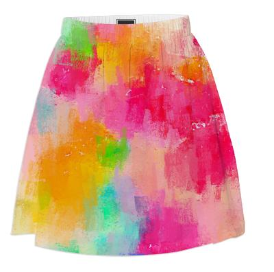 Spring Pastel Showers Summer Skirt