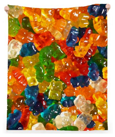 Gummy Bears Linen Beach Towel