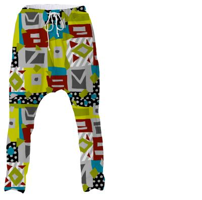 Patch pop pants