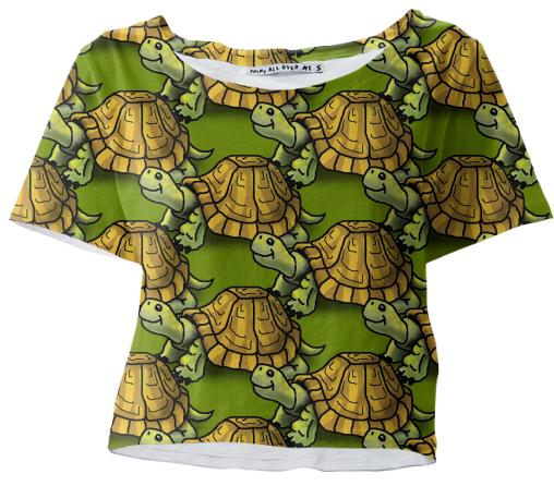 Turtles Cropped Top