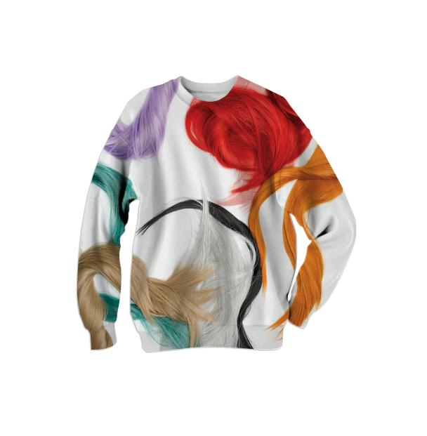 multicoloured sweatshirt