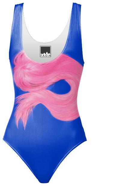 PAOM, Print All Over Me, digital print, design, fashion, style, collaboration, matherystudio, One Piece Swimsuit, One-Piece-Swimsuit, OnePieceSwimsuit, PINK, WIG, BLUE, spring summer, unisex, Spandex, Swimwear