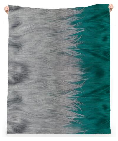 GREY ON GREEN WIGS BEACH TOWEL