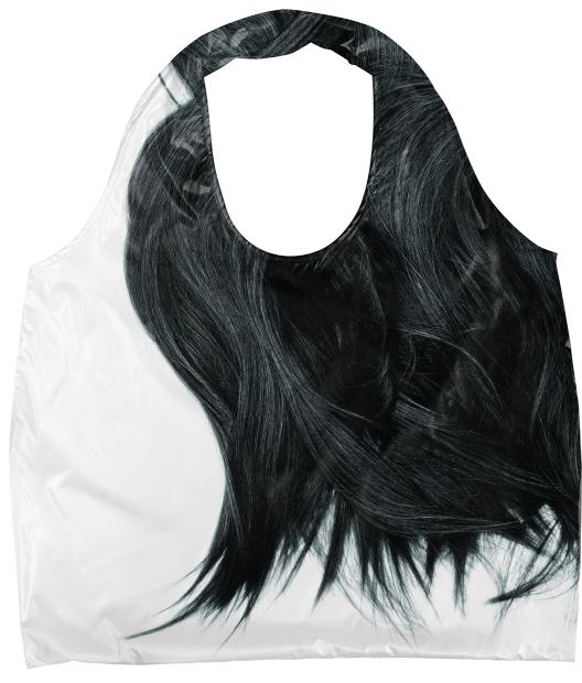 BLACK HAIR BAG