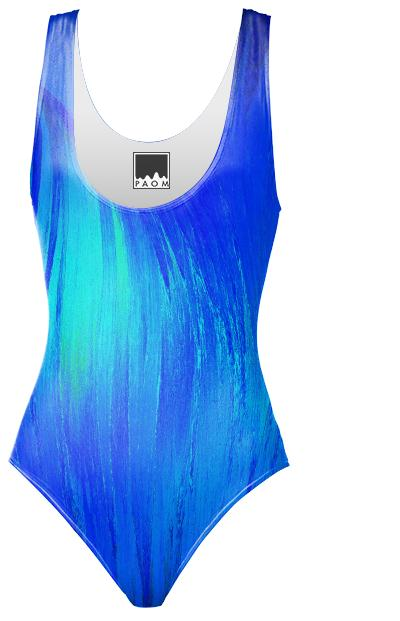Blue Flame Crystal Swimsuit