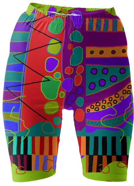 artistic bike shorts