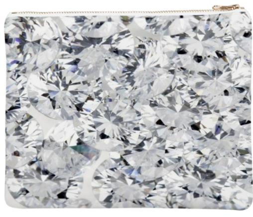 Covered In Diamonds Neoprene Clutch