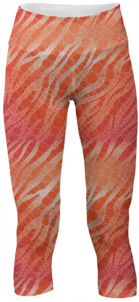 Orange Zebra Abstract Pattern Yoga Pants