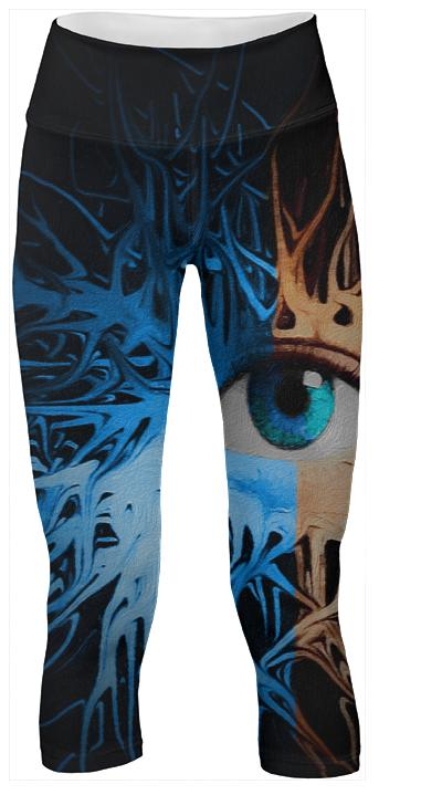 Funky Eye Abstract Yoga Pants