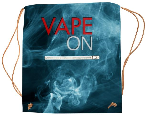 Blue Smoke Vape On Sports Bag