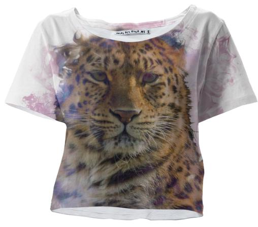 Smokey Tiger Crop Tshirt