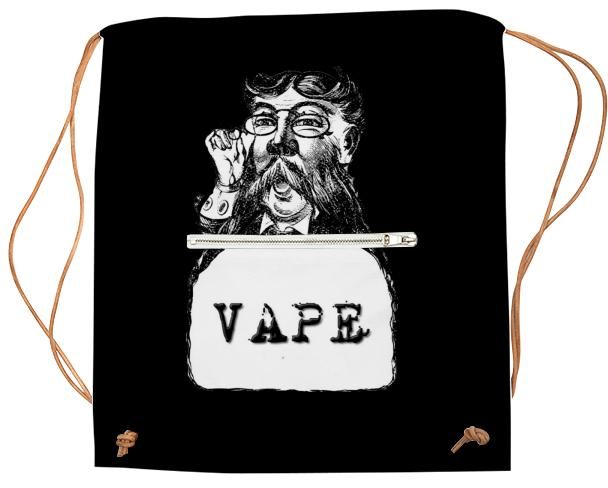 Retro Man Vape Black Sport Bookbag