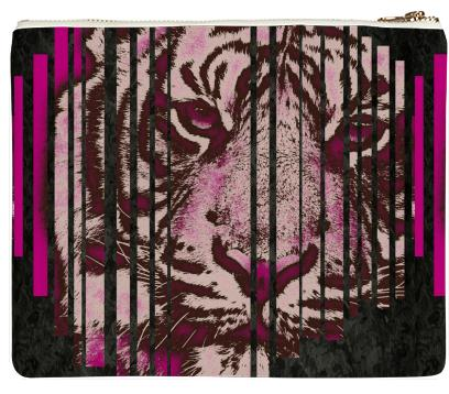 Hot Pink Tiger Neoprene Clutch
