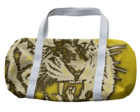 Florescent Yellow Tiger Duffle Bag