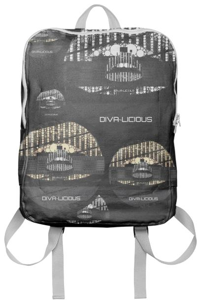 Divalicious Bling Lips Backpack