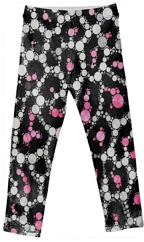 Kids Pink Cheetah Bling Leggings