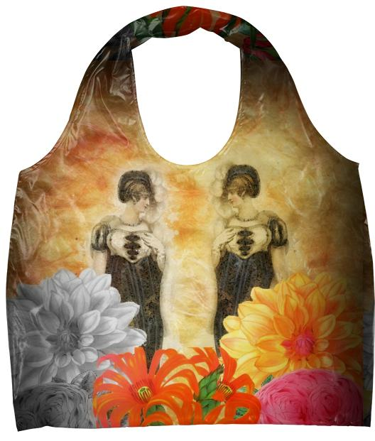 Beautiful Vintage Woman Reflection Eco Tote