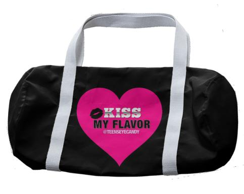 Kiss My Flavor Vape Pink Duffle Bag