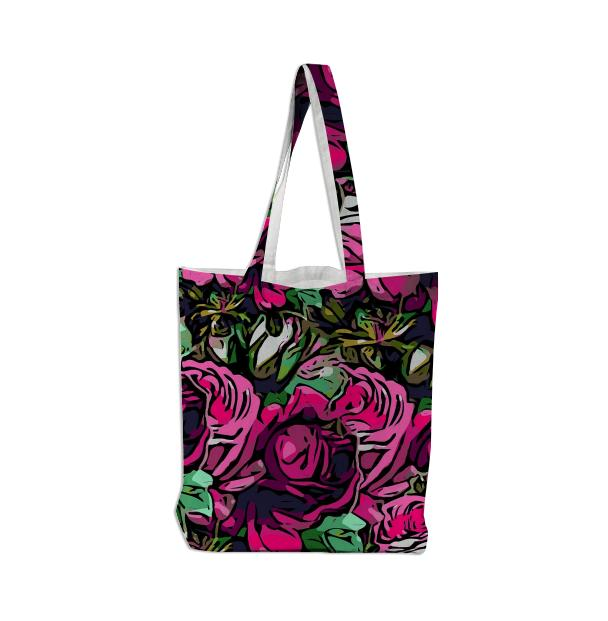Beautiful Pink Roses Tote Bag