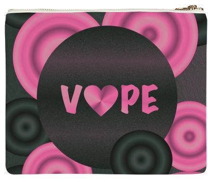 Pretty Pink Vape Heart Clutch