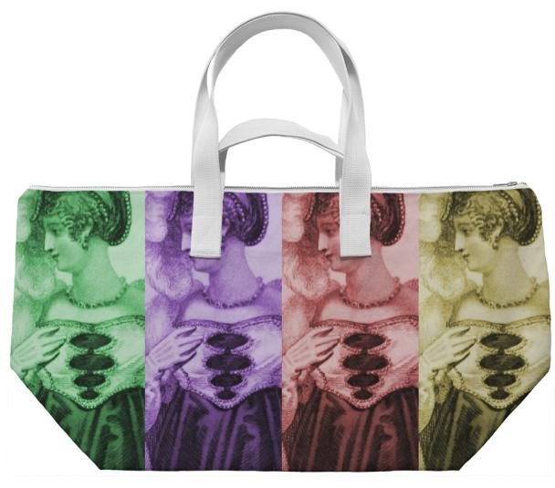 Vintage Woman Pop Weekend Bag