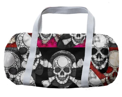 Skull Metal Duffle Bag